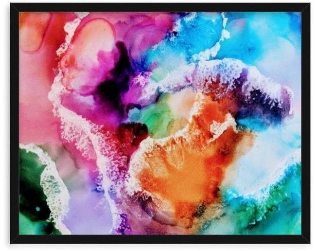 Art: Splashes of Joy (sold) by Artist Amber Elizabeth Lamoreaux