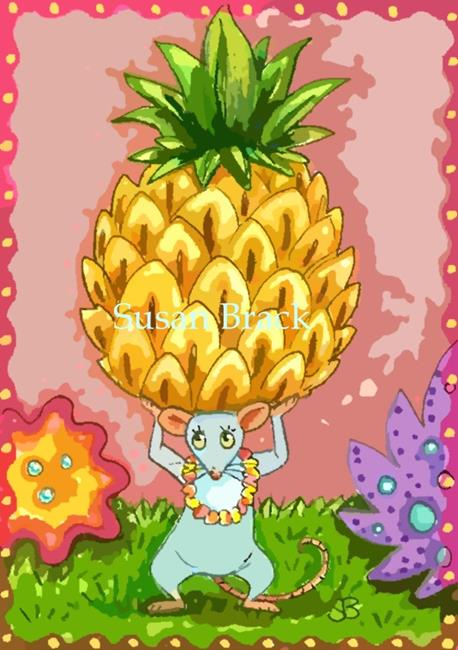 Art: A PINEAPPLE WELCOME by Artist Susan Brack