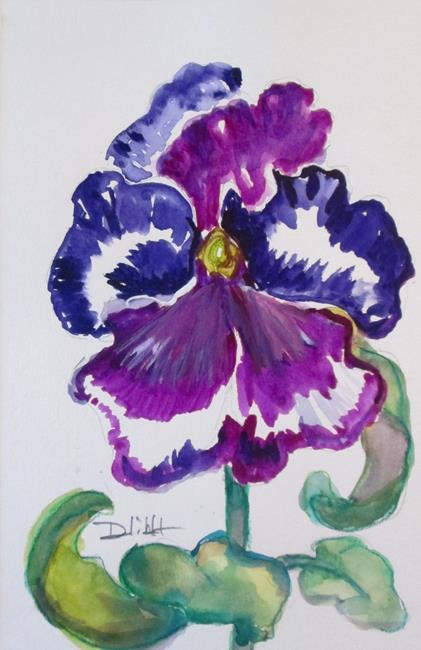 Art: Pansies No. 7 by Artist Delilah Smith