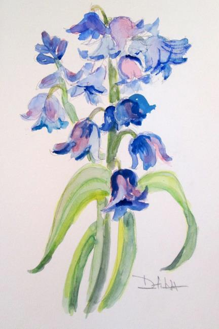 Art: Bluebells by Artist Delilah Smith