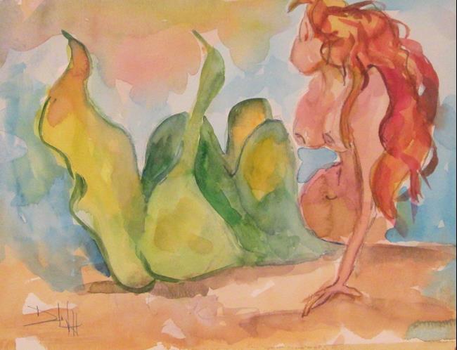Art: Mermaid No. 24 by Artist Delilah Smith