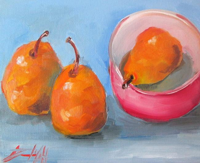 Art: Pears in a Bowl by Artist Delilah Smith