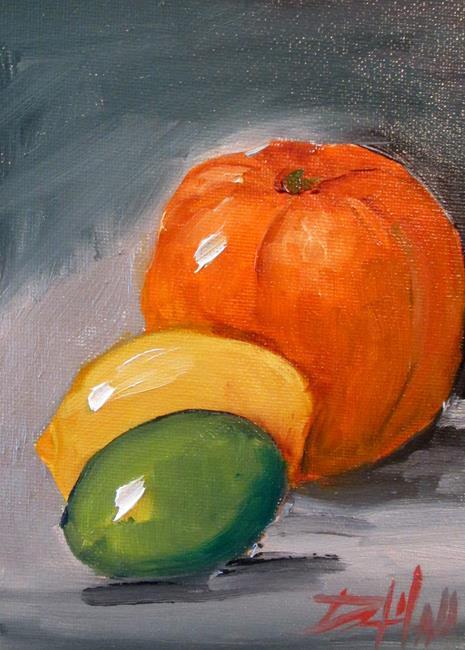 Art: Orange,lemon,and Lime by Artist Delilah Smith