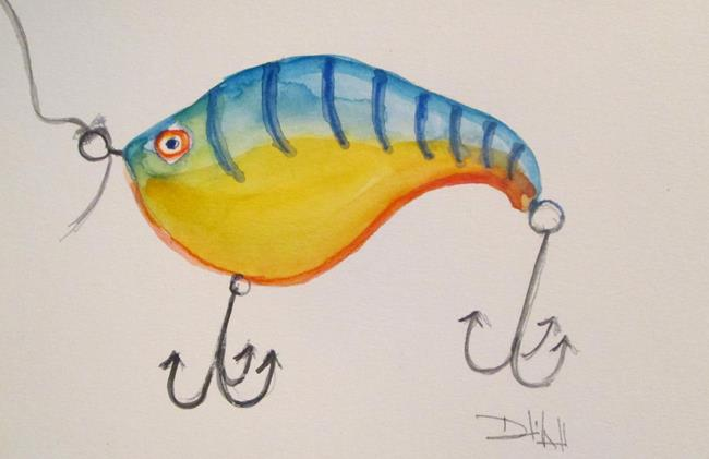 Art: Fishing Lure No. 14 by Artist Delilah Smith