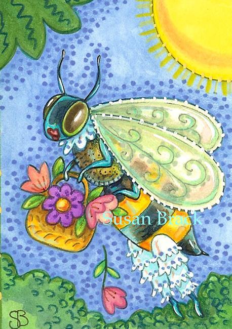 Art: BEE BEAUTY by Artist Susan Brack