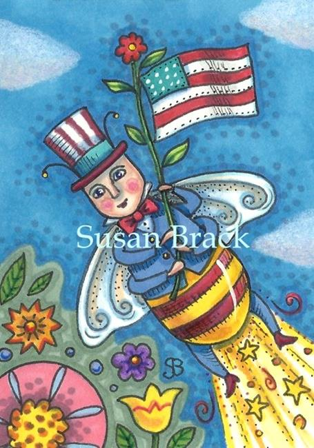 Art: BE THE BEST YOU CAN BEE IN THE LAND OF THE FREE by Artist Susan Brack