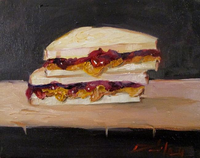 Art: Peanut Butter and Jelly No. 5 by Artist Delilah Smith