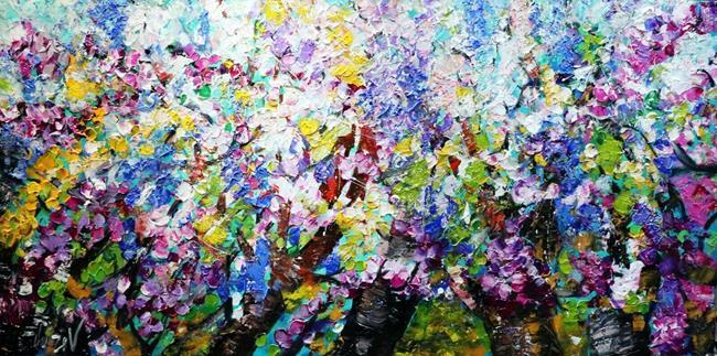 Art: LILACS IN BLOOM by Artist LUIZA VIZOLI