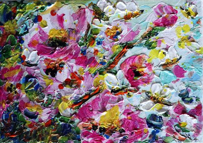 Art: Bees and Flowers by Artist LUIZA VIZOLI