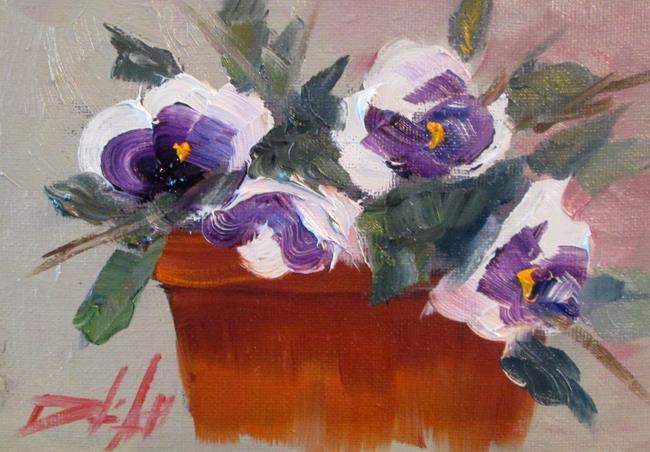 Art: Pot of Pansies by Artist Delilah Smith