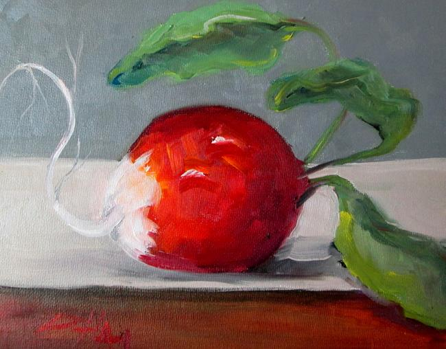 Art: Radish Still Life by Artist Delilah Smith