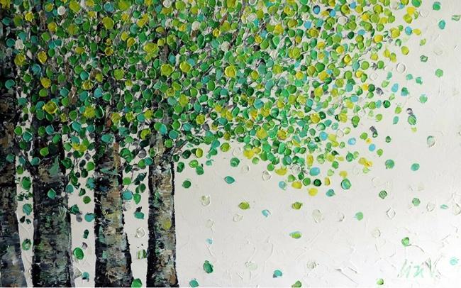 Art: SPRING BIRCH TREES by Artist LUIZA VIZOLI