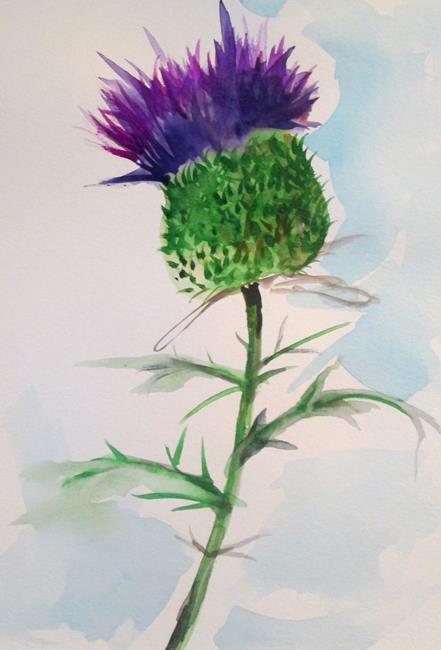 Art: Thistle by Artist Delilah Smith