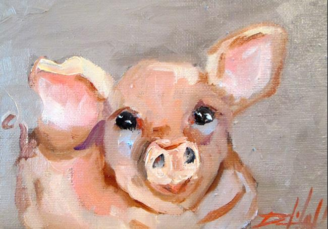 Art: Pig No. 16 by Artist Delilah Smith