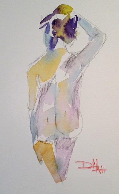 Art: Walking Nude Female by Artist Delilah Smith