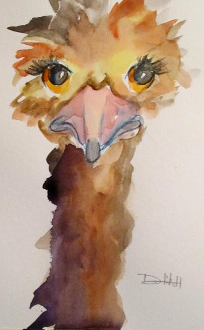 Art: Ostrich No. 7 by Artist Delilah Smith