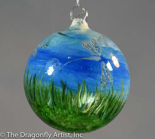 Art: Hand Blown Field of Dragonflies #1393082 by Artist Rebecca M Ronesi-Gutierrez