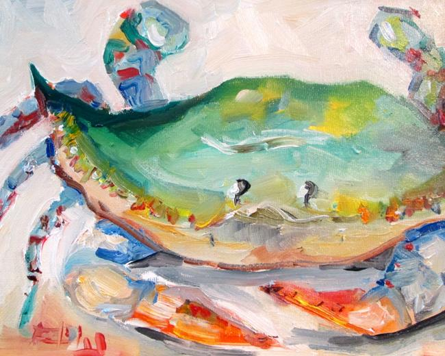 Art: Fat Crab by Artist Delilah Smith