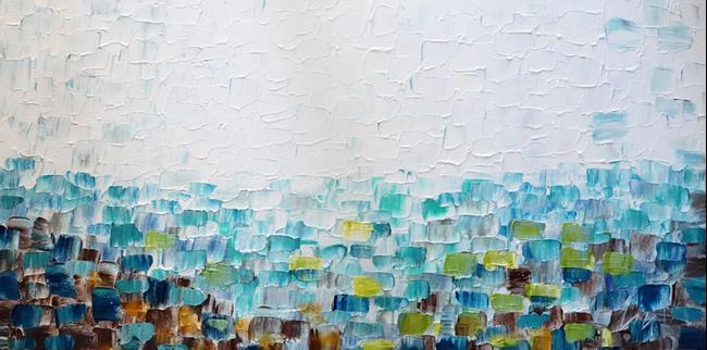 Art: AQUA BLUE    by Artist LUIZA VIZOLI