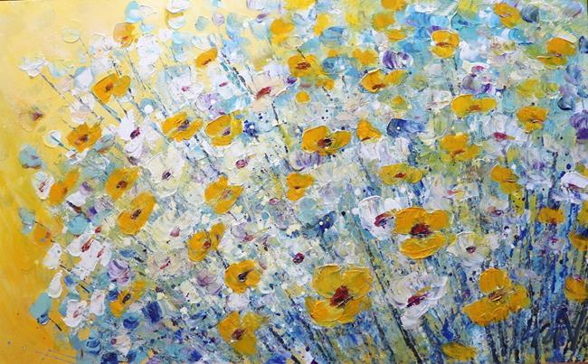 Art: Sunny Day Spring Flowers by Artist LUIZA VIZOLI