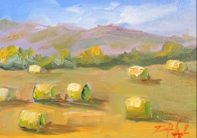 Art: Hay Bails No. 4 by Artist Delilah Smith
