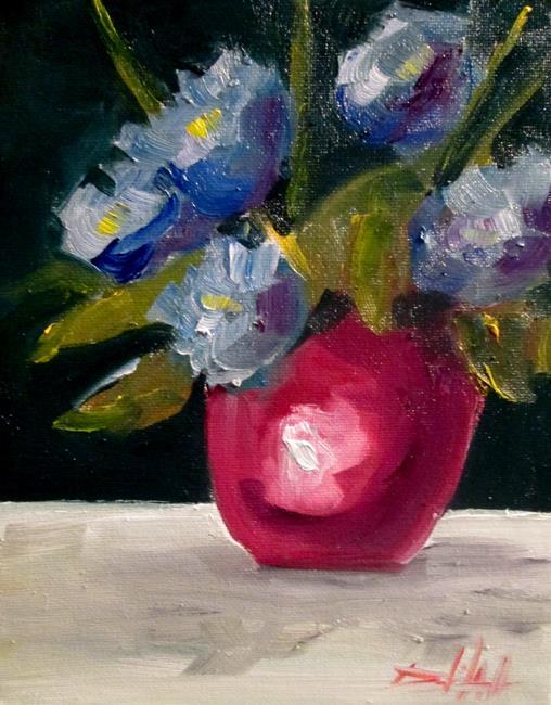 Art: Blue Flowers Still Life by Artist Delilah Smith
