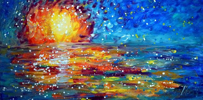 Art: Ocean Sunset   Maui Hawaii by Artist LUIZA VIZOLI