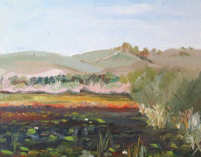 Art: Landscape with Marsh by Artist Delilah Smith