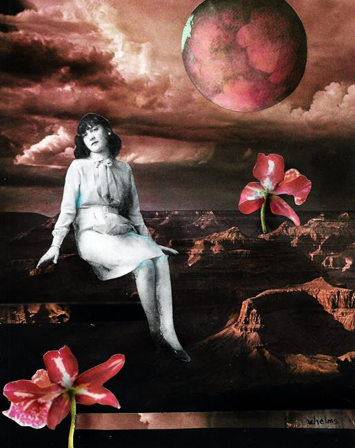 Art: A Rose Colored Moment by Artist Vicky Helms