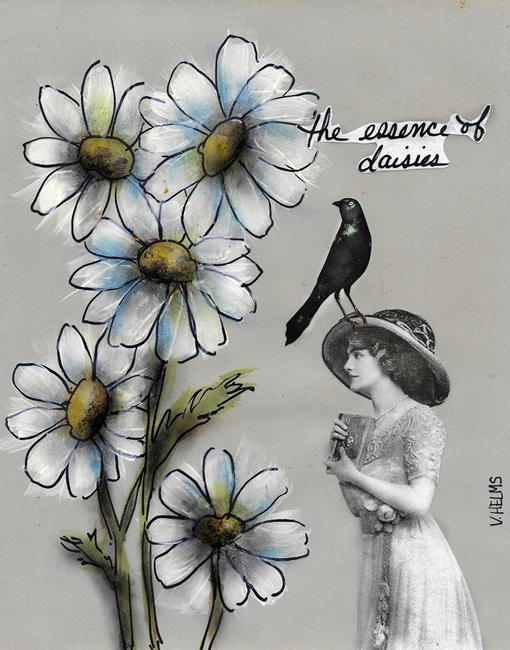 Art: The Essence of Daisies by Artist Vicky Helms