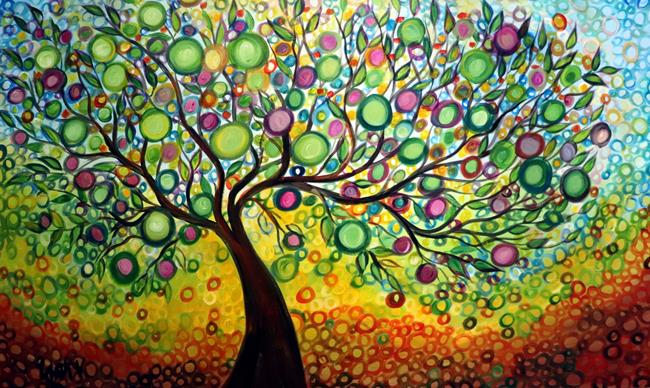 Art: Olive Tree of Life by Artist LUIZA VIZOLI