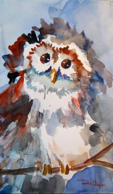 Art: Gray Owl by Artist Delilah Smith