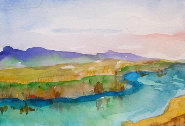 Art: Stream in the Marsh by Artist Delilah Smith