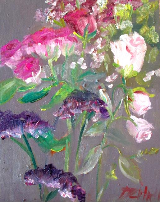 Art: Sweetheart Roses by Artist Delilah Smith
