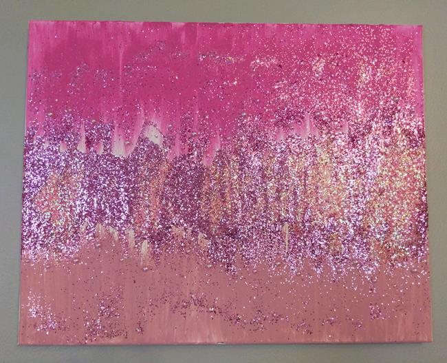 Art: Lustrous Pink (sold) by Artist Amber Elizabeth Lamoreaux