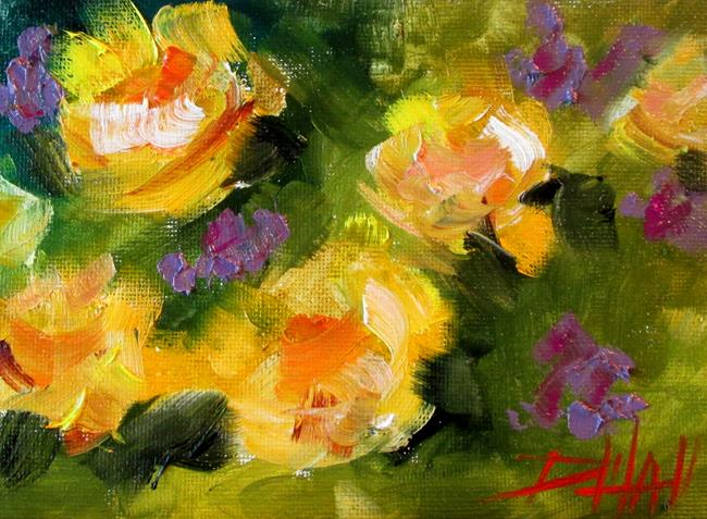 Art: Yellow Flowers No. 3 by Artist Delilah Smith