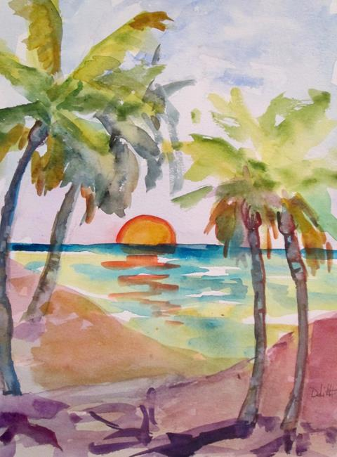 Art: Tropical Sunset No. 2 by Artist Delilah Smith