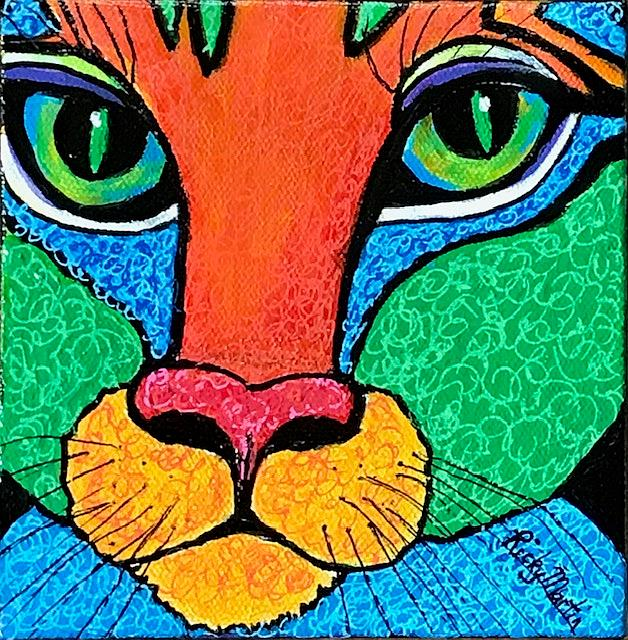 Art: Pop Art Cat - sold by Artist Ulrike 'Ricky' Martin