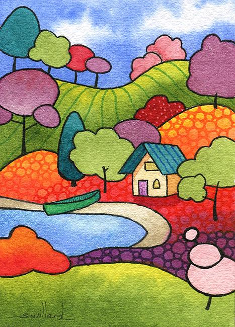 Art: Summer Cabin by Artist Sandra Willard
