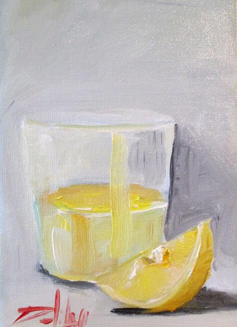Art: Drink with Lemon Slice by Artist Delilah Smith