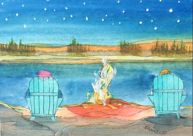 Art: May 17 Covid by Artist Kathy Crawshay