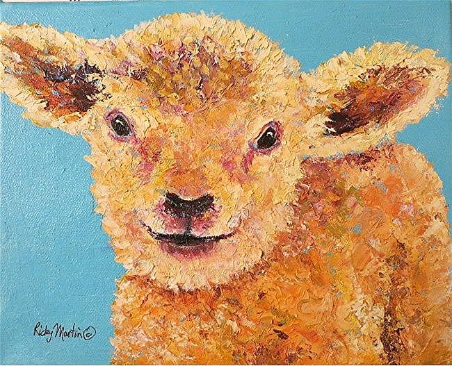 Art: Little Lamb - sold by Artist Ulrike 'Ricky' Martin