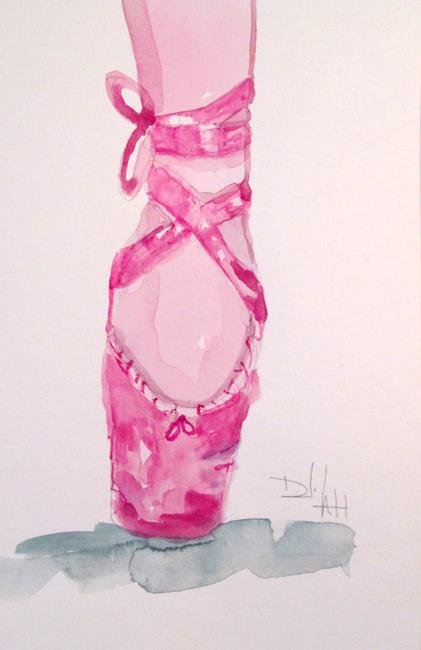 Art: Pointe Ballerina Shoe by Artist Delilah Smith