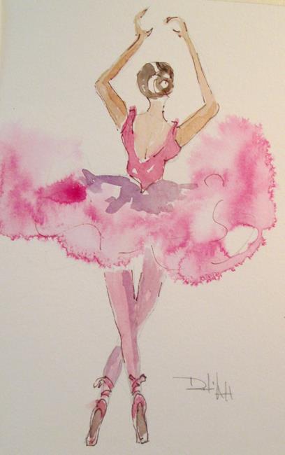 Art: Pink Ballerina by Artist Delilah Smith