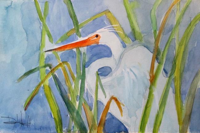 Art: Egret No. 4 by Artist Delilah Smith