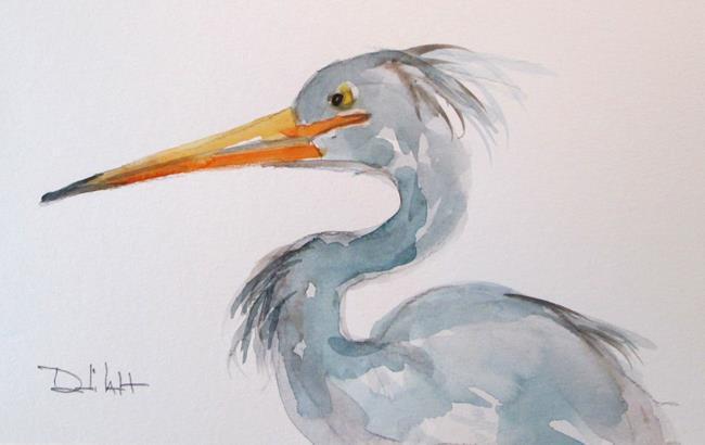 Art: Blue Heron by Artist Delilah Smith