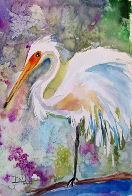 Art: Egret No. 5 by Artist Delilah Smith