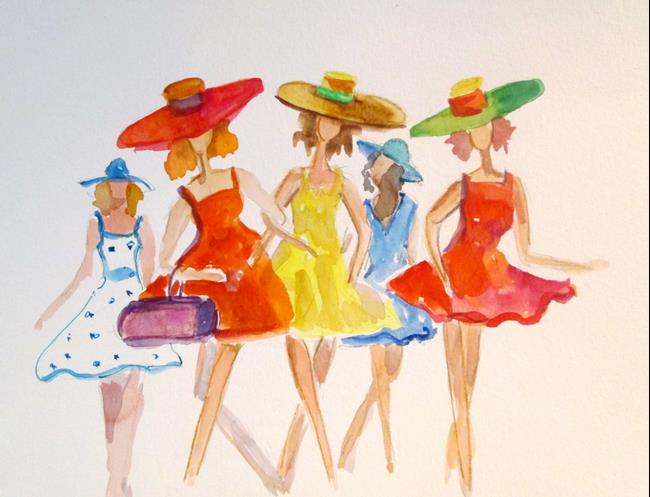 Art: Laddies Shopping by Artist Delilah Smith