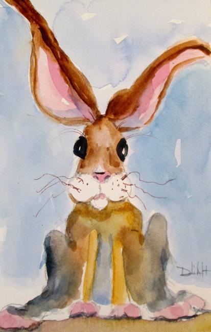 Art: Long Ear Rabbit by Artist Delilah Smith