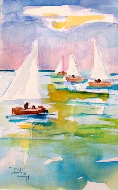 Art: Sailboats No. 28 by Artist Delilah Smith